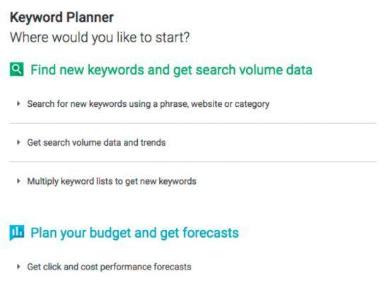 elige una herramienta de google