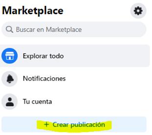 marketplace crear publicación