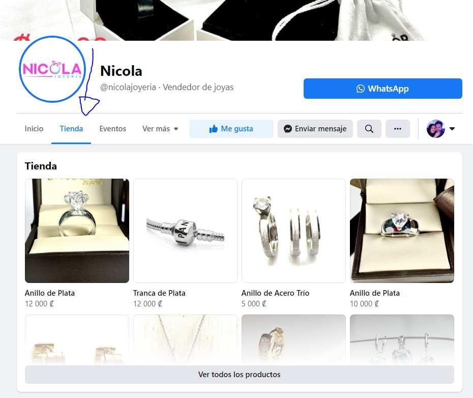 catálogo de producto en facebook